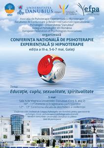 """Universitatea """"Danubius"""" găzduiește o nouă ediție a Conferinței Naționale de Psihoterapie Experențială și Hipnoterapie"""