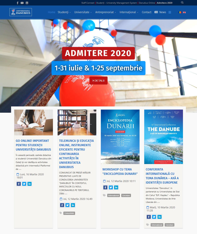 """Website nou pentru Universitatea """"Danubius"""" din Galați"""