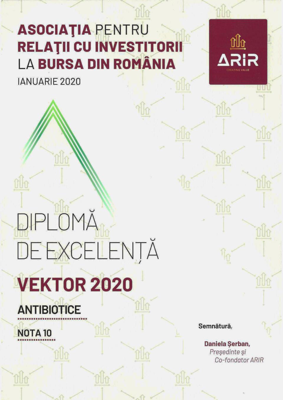 Compania Antibiotice, premiată pentru comunicarea excelentă cu investitorii
