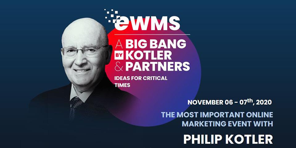 Poti beneficia de un curs online la Kotler Impact University daca te inscrii la Electronic World Marketing Summit (eWMS) 2020