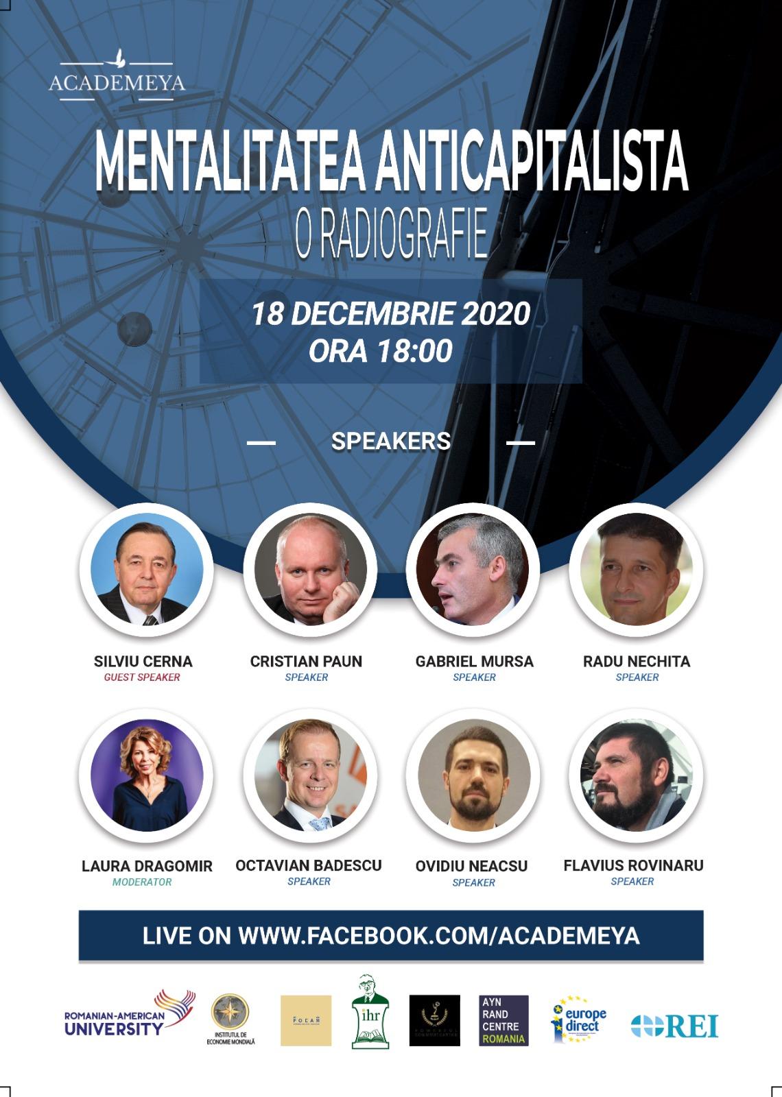 """Universitatea Danubius organizează Conferința cu tema """"O radiografie asupra mentalității anticapitaliste"""""""