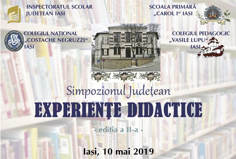 """Simpozionul Judeţean """"Experienţe Didactice"""", locul unde se întâlnesc actuali şi viitori dascăli ieşeni de la catedră"""