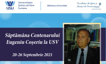 """Biblioteca USV organizează """"Săptămâna Eugeniu Coşeriu"""""""