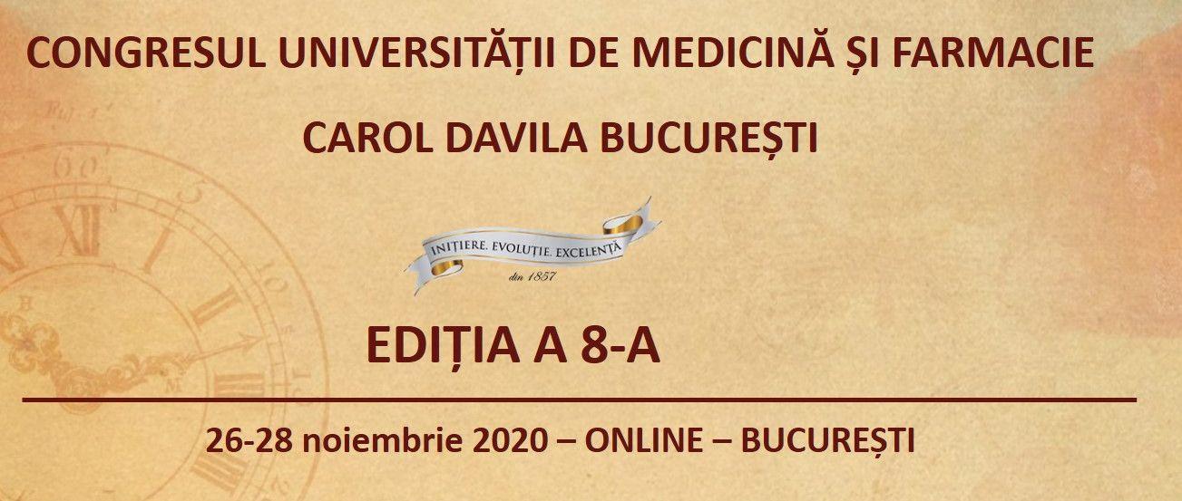 "Congresul UMF ""Carol Davila"" are loc online"