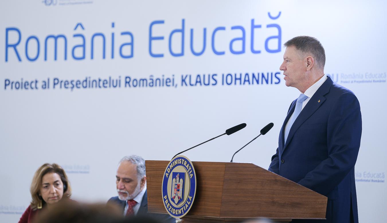 Klaus Iohannis: Nu putem rezolva toate problemele din educaţie peste noapte