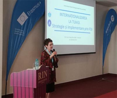 Proiectele FDI ale Universității Tehnice Iași pe domeniul internaționalizare, prezentate ca model la o conferință internațională de la București