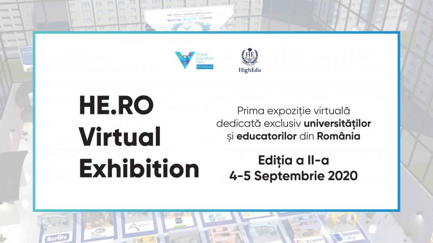 Târgul educaţional online HE.RO Virtual Exhibition – pe 4 şi 5 septembrie
