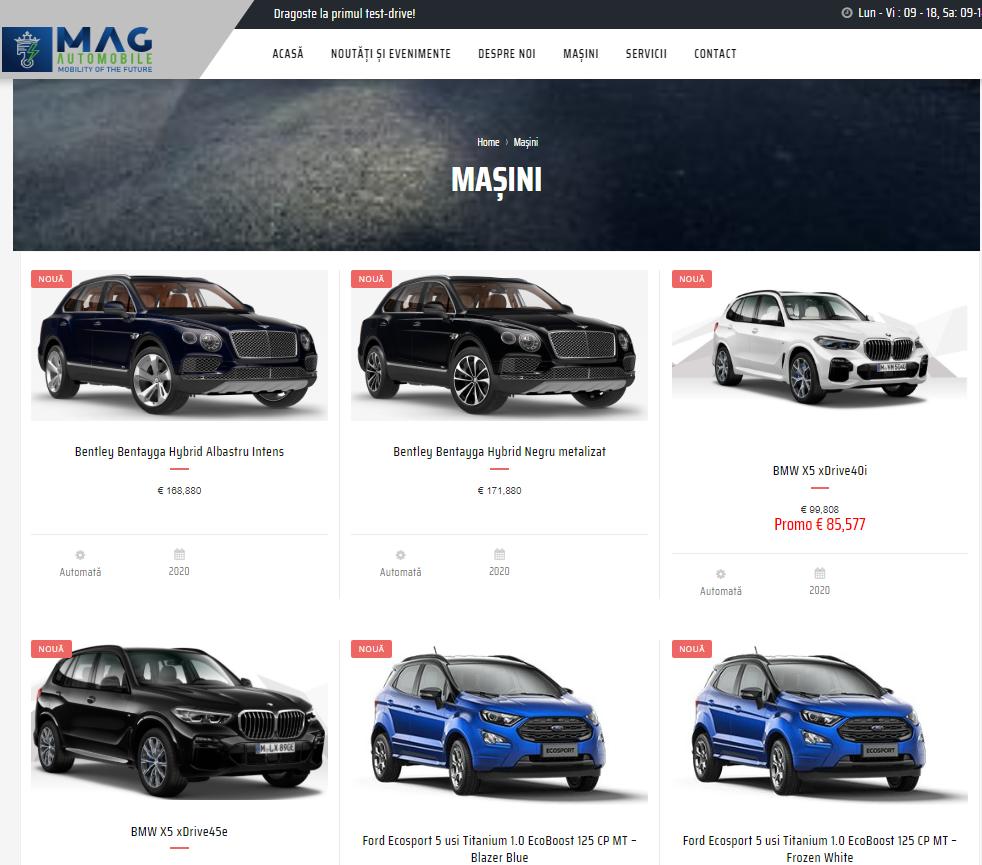 Magautomobile.ro, cea mai nouă platformă auto multibrand