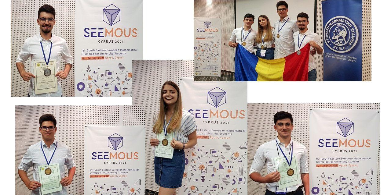 """Patru medalii de argint şi bronz obţinute de studenţi de la Universitatea Tehnică """"Gheorghe Asachi"""" Iaşi la SEEMOUS 2021"""