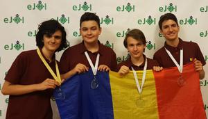Premii obţinute de echipa României la Olimpiada Europeană de Informatică pentru Juniori şi la Balcaniadă