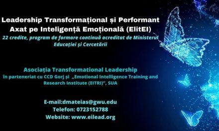 Program inovator de formare continuă, Leadership Transformațional și Performant axat pe Inteligență Emoțională (ElitEI)