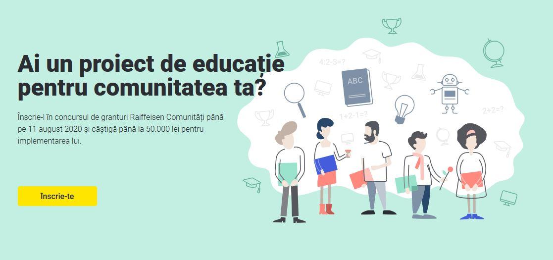 Finanțări nerambursabile de 500.000 lei pentru proiecte educaționale