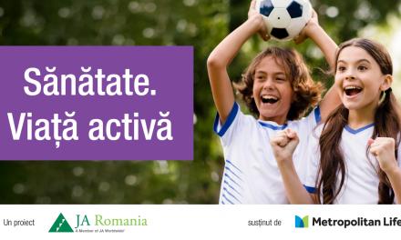 Sănătate. Viață activă – un nou proiect Junior Achievement România adresat elevilor de gimnaziu