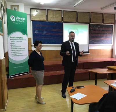 """Programul """"Sănătos în Clasă, Sănătos Acasă"""" a ajuns la elevii Colegiului Național Pedagogic """"Spiru Haret"""" din Focșani"""