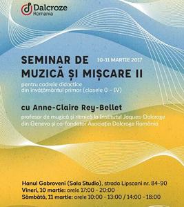 Al doilea Seminar de muzică și mișcare pentru cadrele didactice din învățământul primar