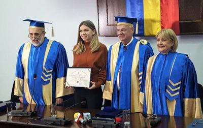 Simona Halep a primit titlul de ambasador onorific al Universităţii Ovidius