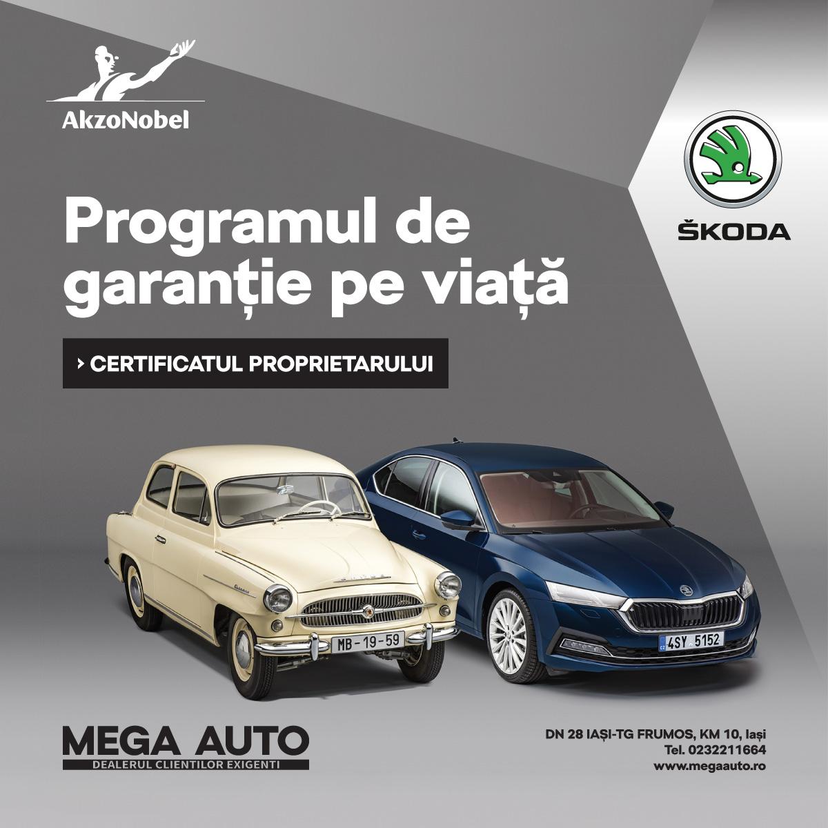 La Mega Auto – ŠKODA Iași ai parte de garanție pe viață la vopsitoria auto