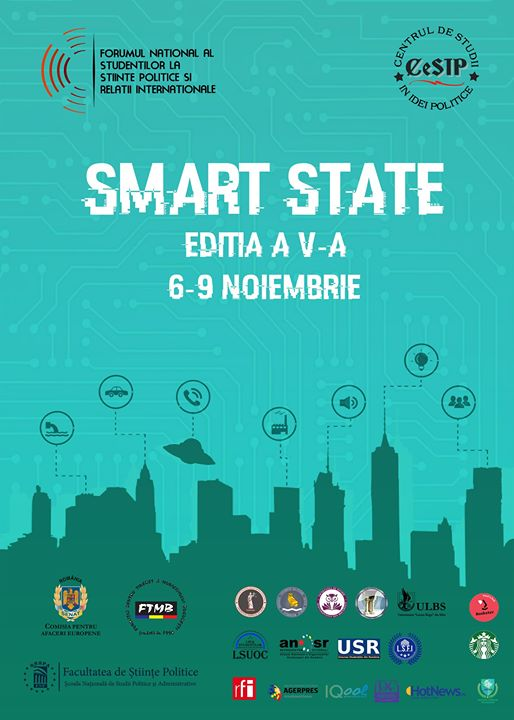 """""""Smart State"""", tema centrală a dezbaterilor la a cincea ediţie a Forumului Naţional al Studenţilor la Ştiinţe Politice"""