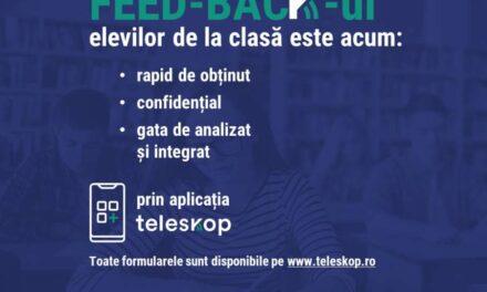 De la lansare, aplicația Teleskop a înregistrat 10.000 de completări ale formularelor de către elevi din România și Republica Moldova