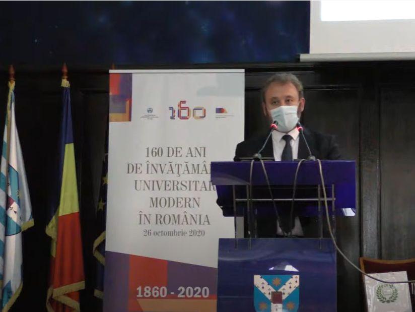 """Universitatea """"Al. I. Cuza"""" şi Universitatea de Arte """"George Enescu"""" din Iaşi au sărbătorit 160 de ani de la înfiinţare"""