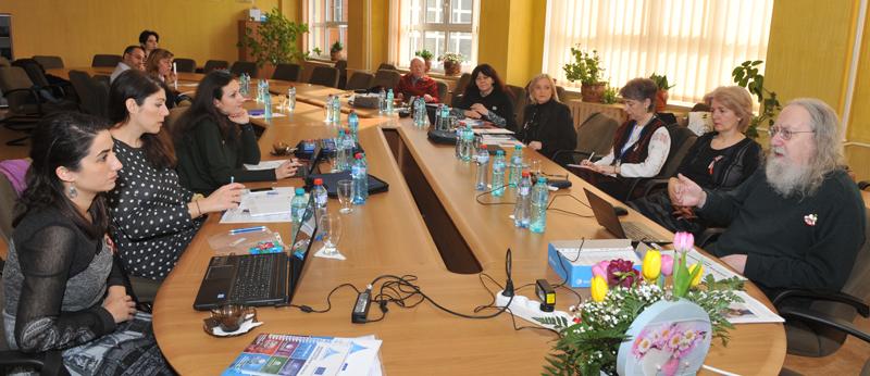 """Întâlnire de lucru transnaţională în cadrul Proiectului MUINÍN la Universitatea """"Vasile Alecsandri"""" din Bacău"""