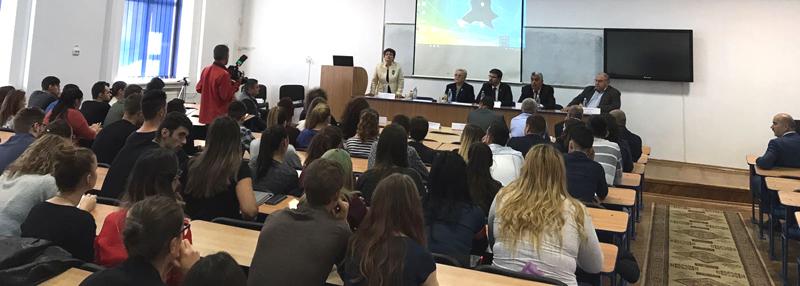 """Lansarea Societăţii Antreprenoriale a Studenţilor din cadrul Universității """"Vasile Alecsandri"""" din Bacău"""