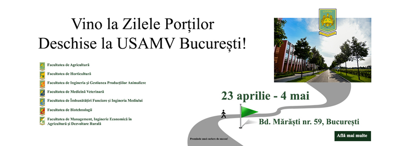 USAMV București își deschide porțile pentru elevii de liceu