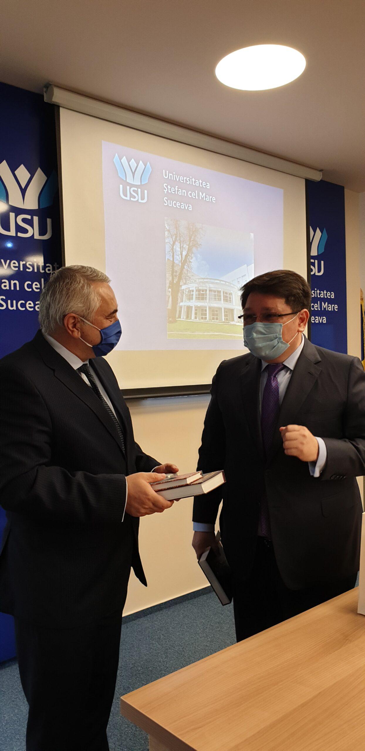 """Universitatea """"Ștefan cel Mare"""" din Suceava a primit vizita Ambasadorului Republicii Kazahstan în România"""