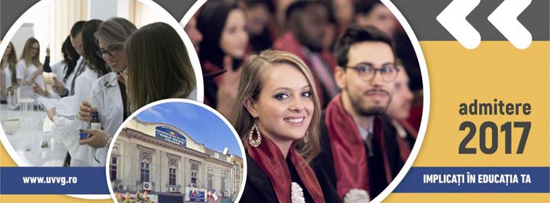 """Facilităţi sporite acordate de Universitatea de Vest """"Vasile Goldiş"""" din Arad pentru admiterea în anul universitar 2017-2018, Sesiunea de toamnă"""