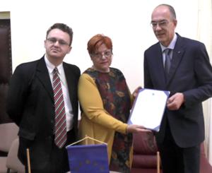 """Protocol de colaborare între Universitatea de Vest """"Vasile Goldiș"""" din Arad și Univeur Di Galasso Gennaro din Italia"""