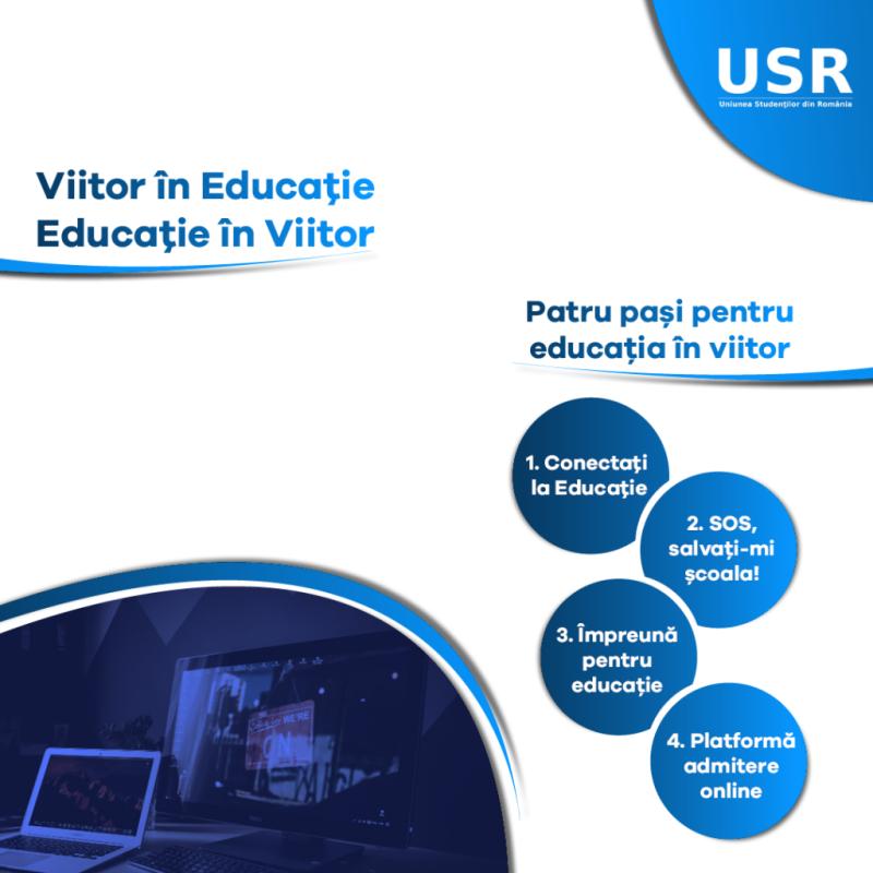 """Uniunea Studenţilor din România a demarat campania """"Viitor în Educaţie, Educaţie în Viitor!"""""""